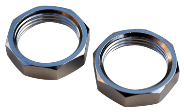 '47-'59 CHEVROLET/GMC PICKUP AND SUBURBAN WIPER RETAINER NUTS, CHROME, 2PC