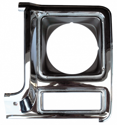 K5 Jimmy - 1973-1991 - 79-'80 CHEVROLET PICKUP HEADLIGHT DOOR CHROME/DRK ARGENT DRIVER'S SIDE