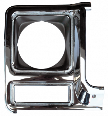 K5 Jimmy - 1973-1991 - 79-'80 CHEVROLET PICKUP HEADLIGHT DOOR CHROME/DRK ARGENT PASSENGER'S SIDE