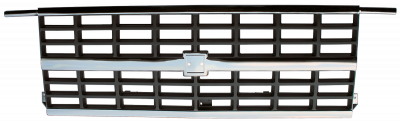 Pickup - 1988-1998 - 88-'91 CHEVROLET BLAZER GRILLE CENTER, CHROME/SLVR, W/DUAL H/L