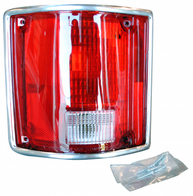 Pickup - 1988-1998 - 78-'91 BLAZER & JIMMY TAIL LIGHT ASSEMBLY WITH CHROME TRIM, DRIVER'S SIDE