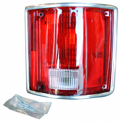 Pickup - 1988-1998 - 78-'91 BLAZER & JIMMY TAIL LIGHT ASSEMBLY WITH CHROME TRIM, PASSENGER'S SIDE