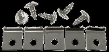 GMC Pickup - 1955-1959 - '55-'62 CHEVROLET/GMC PICKUP DOOR WEATHERSTRIP RETAINER KIT (10 PC)